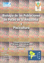 Biología de las Poblaciones de Peces de la Amazonía y Piscicultura