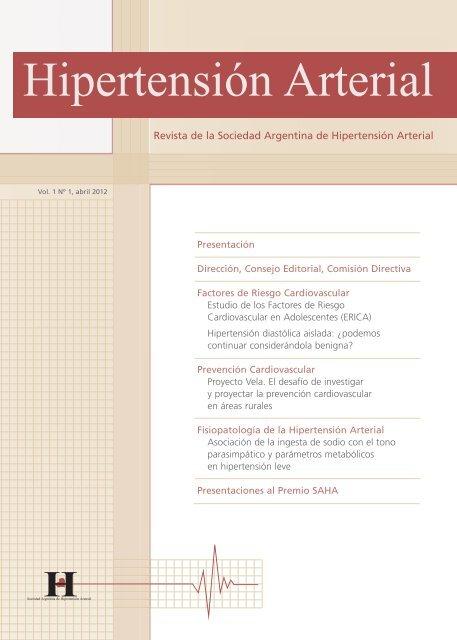 Regulación 1 Pautas de 2003 para la hipertensión