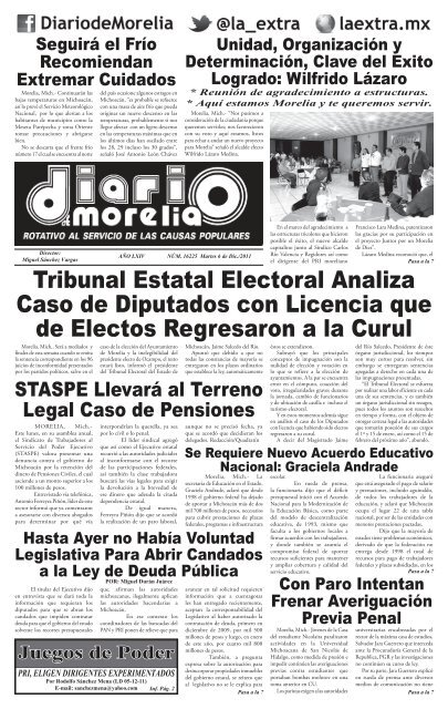 00 Diario Indd La Extra Diario De Morelia Noticias