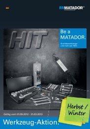 Werkzeug-Aktion. - Matador