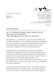 An die Redaktion 02.05.11 Presse-Information - Marienhospital ...