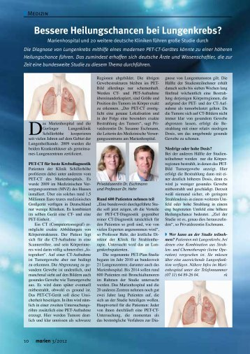 Artikel lesen - Marienhospital Stuttgart