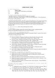 curriculum vitae - Facultatea de Litere, Istorie şi Teologie