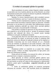 Ce trebuie să cunoaşteŃi referitor la expertiză: - Tribunalul Cluj