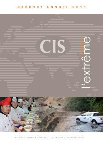 Rapport annuel - Catering International and Services