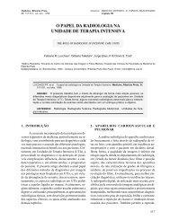 iii - o papel da radiologia na unidade de terapia intensiva - Revista ...