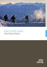 Einen Schritt voraus One Step Ahead - Active Sourcing