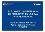 els joves i la presència de publicitat en la seva - Agència Catalana ...