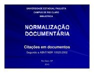 NBR10520 - Citações em Documentos - Unesp