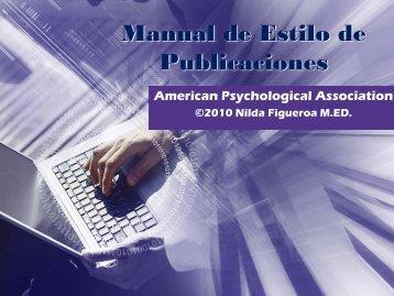 Manual Estilo APA 6ta edición - Biblioteca Hermano David Mediavilla