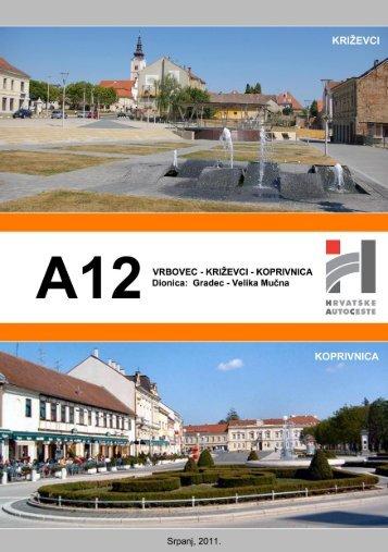 autocesta a12 vrbovec – križevci - koprivnica - HAC