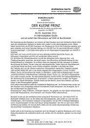 DER KLEINE PRINZ - Admiralspalast