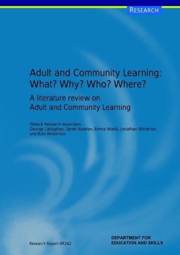 Adult and Community Learning - Digital Education Resource ...