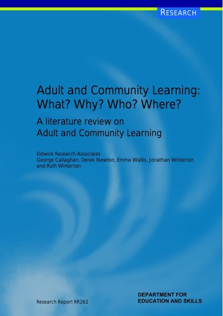 Adult and community learning