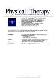 Pelvic-Floor Rehabilitation, Part 1: Comparison ... - Physical Therapy