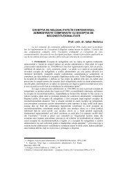 exceptia de nelegalitate în contenciosul administrativ comparativ cu ...