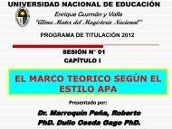 el marco teorico según el estilo apa - Universidad Nacional de ...