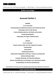 Auswahl Buffet 3 ab 26,50 - Marina Lanke AG