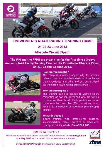 FIM WOMEN'S ROAD RACING TRAINING CAMP