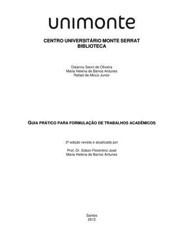 Guia Prático para Formulação de Trabalhos Acadêmicos - Unimonte