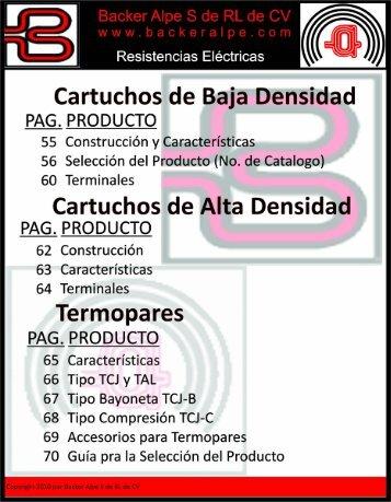 Cartuchos de Baja Densidad - Backer & Alpe