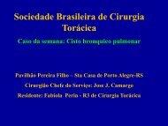 Apresentação do PowerPoint - SBCT - Sociedade Brasileira de ...