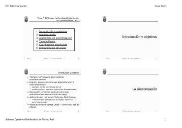 Introducción y objetivos La sincronización - GTI