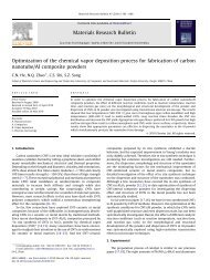 Optimization of the chemical vapor deposition process for fabrication ...