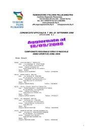 Scarica il calendario della serie D.Pdf - Cestistica Pinerolo