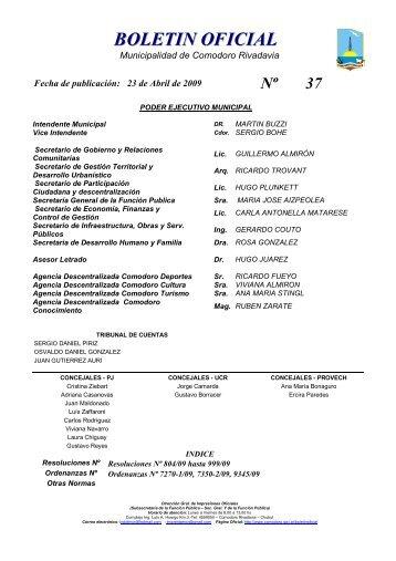 BOLETIN OFICIAL - Municipalidad de Comodoro Rivadavia