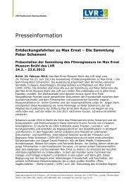 Die Sammlung Peter Schamoni - Max Ernst Museum