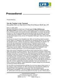 Pressemitteilung Wandbild Ancolie - Max Ernst Museum