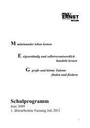 4. Fördern und Fordern - Max-Ernst-Gesamtschule