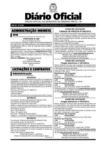 Diário Oficial - Ribeirão Preto