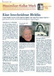 Rundbrief Juli 2007 - Maximilian-Kolbe-Werk