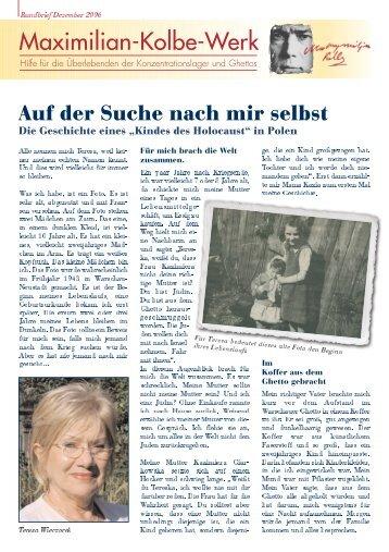 Rundbrief Dezember 2006 - Maximilian-Kolbe-Werk