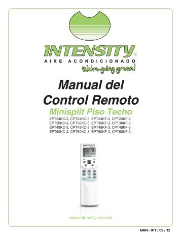 Manual del Control Remoto - climas | aire acondicionado