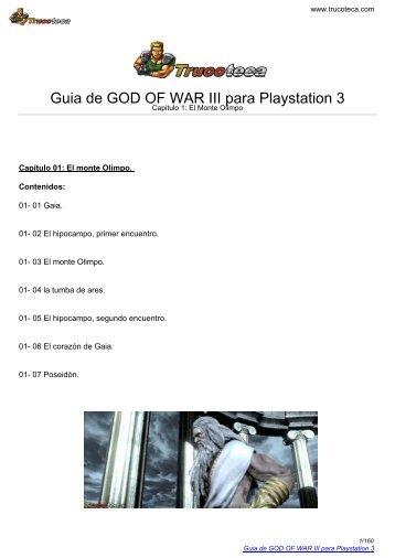 Guia de GOD OF WAR III para Playstation 3 - Mundo Manuales