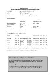 Ausschreibung DKM Wuppertal 2010 - DSV