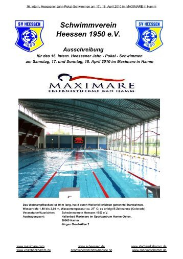 16.Jahn-Pokal - Maxi Swim-Team Hamm
