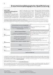 Erwachsenenpädagogische Qualifizierung - VHS in NRW
