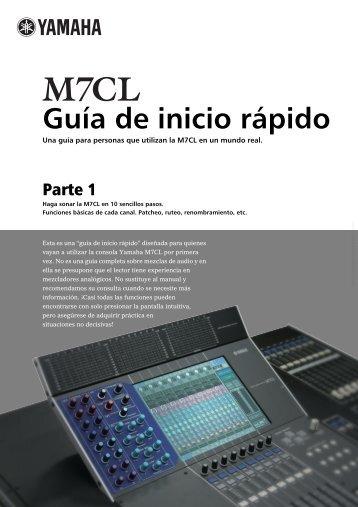 M7CL Guia de inicio rapido Parte 1 - Espanol