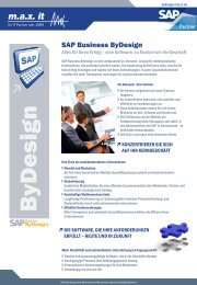 SAP Business ByDesign - Produktflyer - max it
