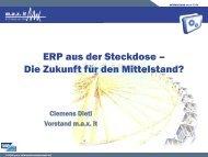 ERP aus der Steckdose - Die Zukunft für den - max it