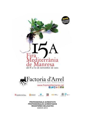 Registered delegates in 2012 - Fira Mediterrània de Manresa