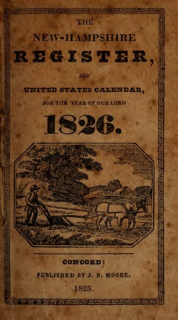 The New-Hampshire register and United States calendar, for the ...