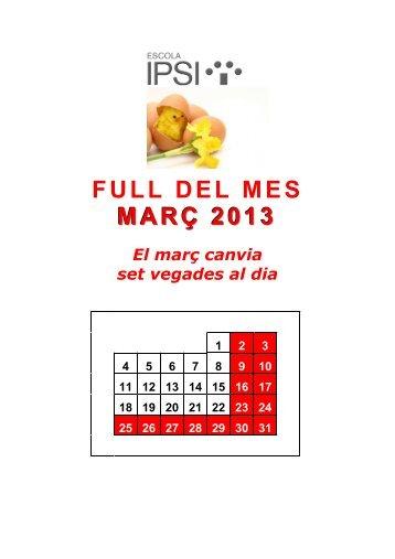 Full del mes març 2013 - Blog de l'escola IPSI