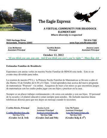 October 12, 2012 - Fairfax County Public Schools
