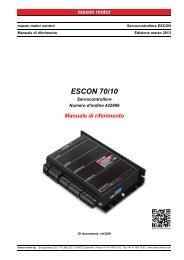 ESCON 70/10 Manuale di riferimento - Maxon Motor ag
