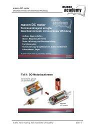 Eisenloser maxon DC motor - Maxon Motor ag